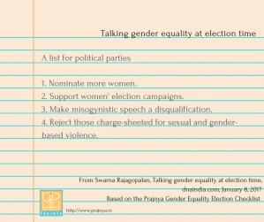 Talking gender equality at election time (1)