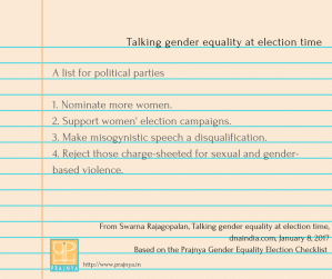 Talking gender equality at election time (1)